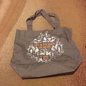 Gray text bag never worn bf32248043937